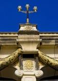 Poste de tres lámparas Foto de archivo