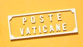 Poste de Vatican Imágenes de archivo libres de regalías