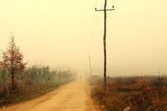 Poste del camino y de telégrafo Imagenes de archivo