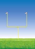 Poste del fútbol americano. imagen de archivo libre de regalías