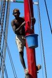 Poste del mástil del barco de la pintura Foto de archivo libre de regalías