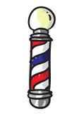 Poste del peluquero Fotografía de archivo libre de regalías