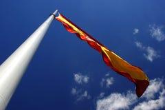 Poste y bandera Imagen de archivo libre de regalías