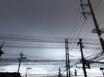Poste eléctrico Imagenes de archivo