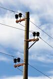 Poste eléctrico Fotografía de archivo