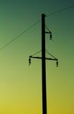 Poste eléctrico Foto de archivo libre de regalías