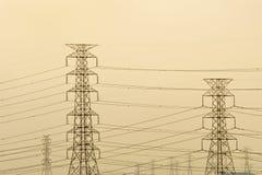 Poste eléctrico Fotos de archivo libres de regalías