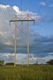 Poste eléctrico infinito Imagen de archivo