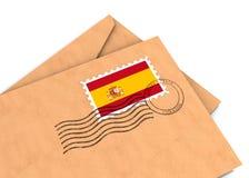 Poste español foto de archivo