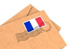 Poste francés imagen de archivo