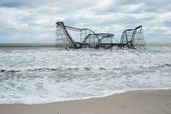 Poste-Huracán Sandy de las alturas NJ de la playa Imágenes de archivo libres de regalías