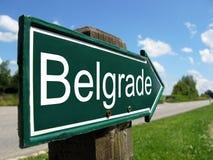 Poste indicador de Belgrado Fotografía de archivo libre de regalías