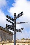 Poste indicador de Buxton Fotos de archivo libres de regalías