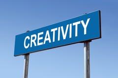 Poste indicador de la creatividad Fotografía de archivo