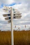 Poste indicador de la migración Imagenes de archivo