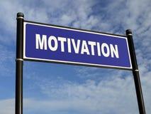 Poste indicador de la motivación Foto de archivo libre de regalías