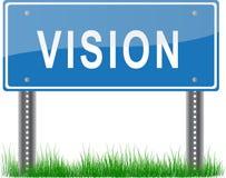 Poste indicador de la visión stock de ilustración