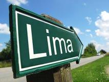 Poste indicador de LIMA Fotografía de archivo