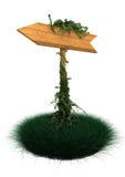 Poste indicador de madera Fotografía de archivo libre de regalías