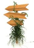 Poste indicador de madera Imagenes de archivo