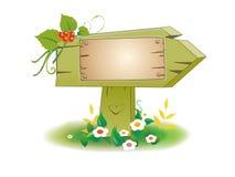 Poste indicador de madera Foto de archivo