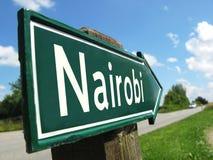 Poste indicador de Nairobi Imagenes de archivo