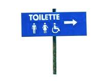 Poste indicador de Toilette aislado imagen de archivo