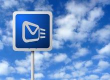 Poste indicador del email Fotografía de archivo