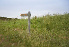 Poste indicador del faro de Dunkery Foto de archivo