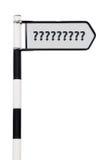 Poste indicador del signo de interrogación Imágenes de archivo libres de regalías