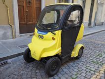 Poste Italiane electric car for mail delivery Royalty Free Stock Images