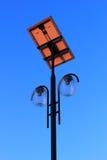 Poste moderno de la lámpara Imágenes de archivo libres de regalías