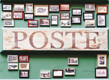 Poste Painted Brown Board Stock Photos