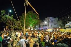 Poste que es aumentado para el festival de Charhak, para el ne bengalí que da la bienvenida Imagen de archivo