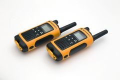Poste radio de Motorola sur le fond clair Photo stock