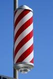 Poste rayado de los peluqueros Imagenes de archivo