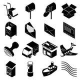 Poste service icons set, simple style Stock Photos