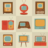 Poste TV de rétro cru Images libres de droits