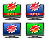 Poste TV de vente Images stock