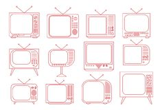 Poste TV de vintage Image stock