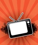 Poste TV noir pour le texte Photo stock