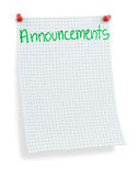 Posted announcements Royalty Free Stock Photos