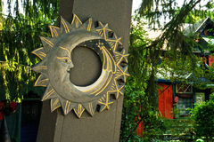 Posted Crescent in the Summer Shade Stock Photo