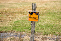 Posted keep out no trespassing Royalty Free Stock Photography