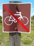 Posted- no bikes Royalty Free Stock Photography