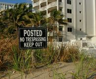 Posted No Trespassing Royalty Free Stock Photography