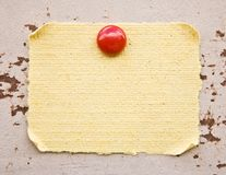 Posted parchment paper Stock Photo