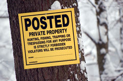 Posted: Private property Stock Photography