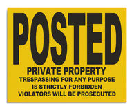 Posted Sign Royalty Free Stock Images