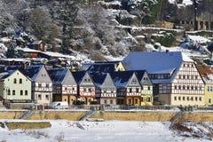 Postelwitz i saxonen Schweiz Arkivfoton